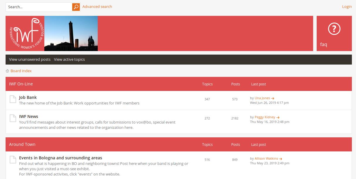 The legendary IWF online Forum lives!